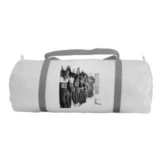 Bar code retro gym bag