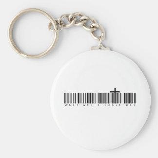 Bar Code WWJD Keychain