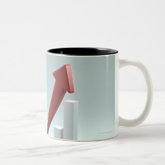 Bar graph and arrow with formula Two-Tone coffee mug