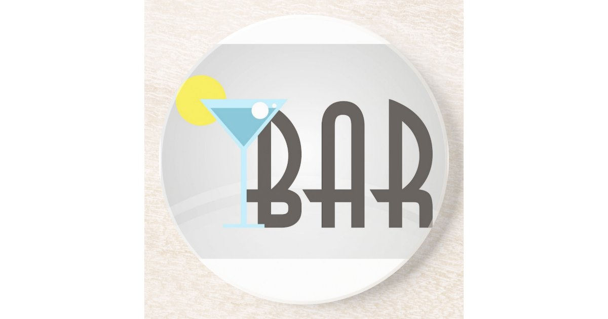 Bar Graphic Drink Coasters Zazzle