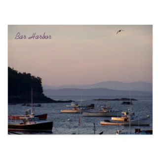 Bar Harbor at dusk one summer's eve Postcard