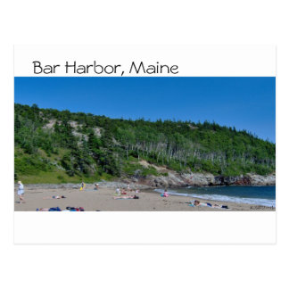 Bar Harbor - Beach - 8 Postcard