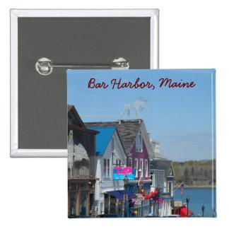 Bar Harbor, Maine 2 Inch Square Button
