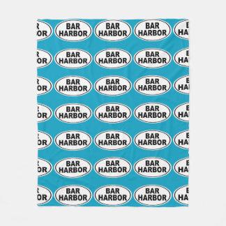 Bar Harbor Maine Fleece Blanket