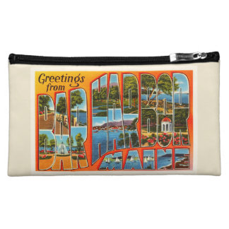 Bar Harbor Maine ME Old Vintage Travel Souvenir Cosmetic Bags