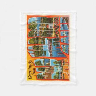 Bar Harbor Maine ME Old Vintage Travel Souvenir Fleece Blanket