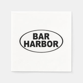 Bar Harbor Maine Paper Napkin