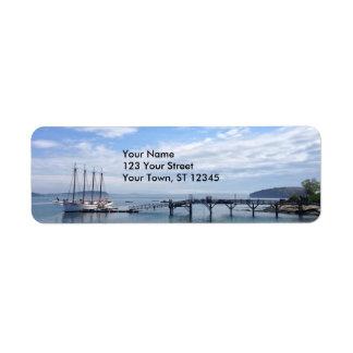 Bar Harbor, Maine Return Address Label