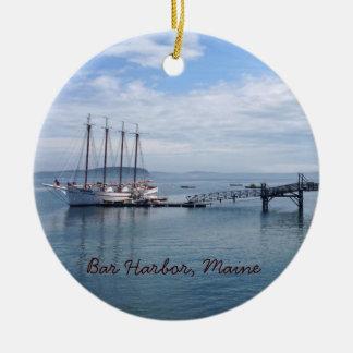 Bar Harbor, Maine Round Ceramic Ornament