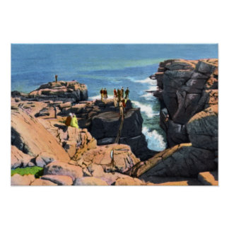 Bar Harbor Maine Thunder Hole Poster