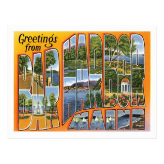 Bar Harbor Maine Travel America US City Postcard