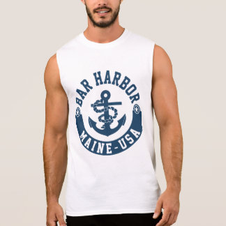 Bar Harbor Maine USA Sleeveless Shirt