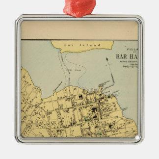 Bar Harbor Silver-Colored Square Ornament