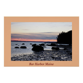 Bar Harbor Sunrise Poster