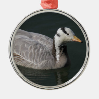 Bar-headed Goose Silver-Colored Round Ornament