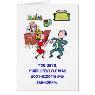 Bar-Hoppin - Anniversary Card