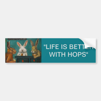 Bar Hopping Bumper Sticker