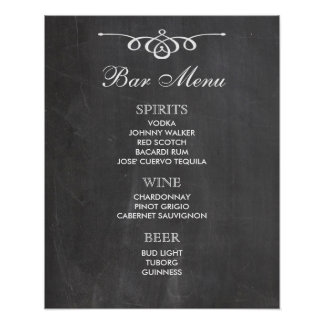 BAR MENU  big sign | chalkboard | wedding bar