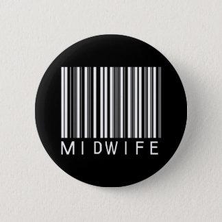 BAR MIDWIFE DARK 2 INCH ROUND BUTTON