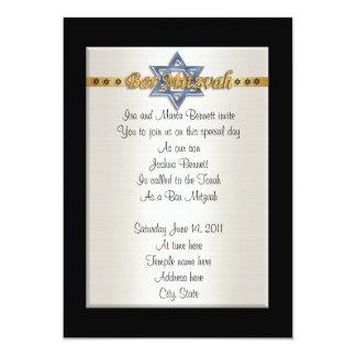 Bar Mitvah invitation formal blue Star of David