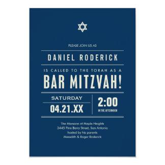 Bar Mitzvah Big Type Invitations