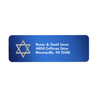"Bar mitzvah celebrations ""return address"" return address label"