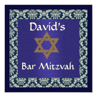 BAR MITZVAH DAMASK  INVITATIONS