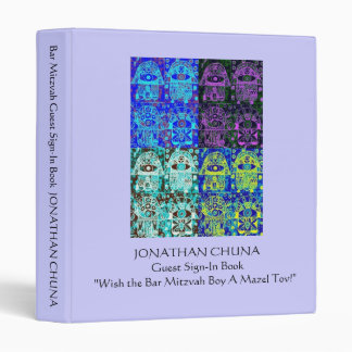 Bar Mitzvah Guest Sign-In Book : Mazel Tov Wishes Binders