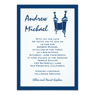Bar Mitzvah Invitation Andrew Torah Hebrew