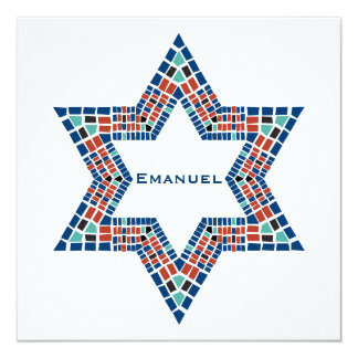 Bar Mitzvah Invitation Emanuel Star David Mosaic