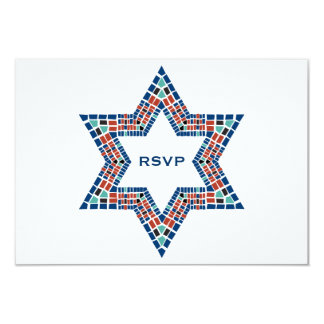 Bar Mitzvah Invitation Emanuel Star David Mosaic
