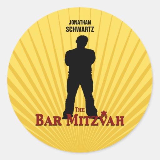Bar Mitzvah Movie Star Sticker