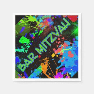 Bar Mitzvah Paint Splatter, Paint Ball Napkin