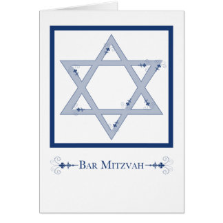 bar mitzvah (star of david elegance) card