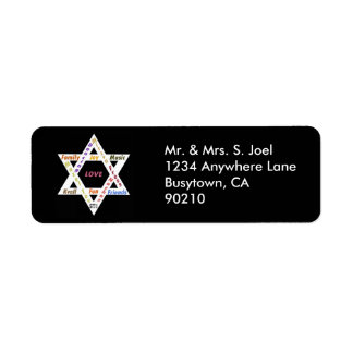 Bar Mitzvah Star of David Return Address Label