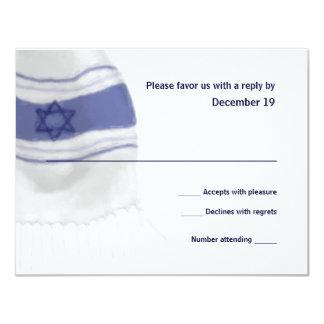 Bar Mitzvah Tallit Reponse Card