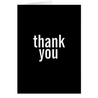 Bar Mitzvah Thank You Cards {Black}