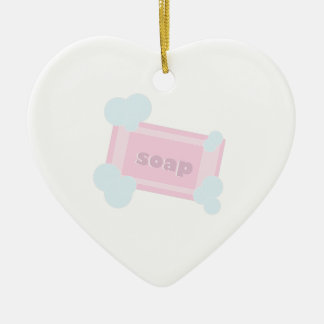 Bar Of Soap Ceramic Heart Ornament
