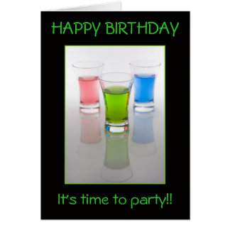 Bar Shots, Happy Birthday! Card
