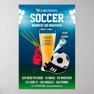 Bar Soccer Event add logo Poster