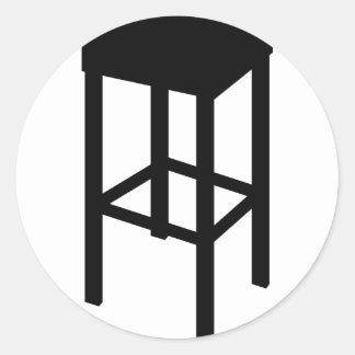 bar stool round sticker