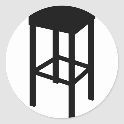 bar stool round stickers