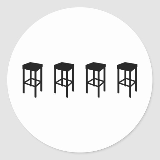 bar stools round stickers