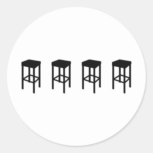bar stools round stickers
