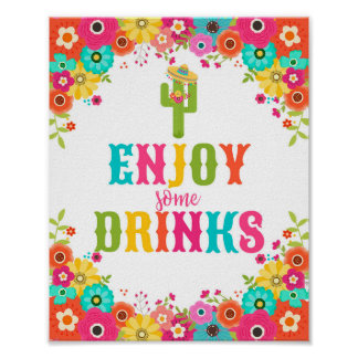 Bar Table Sign-Poster Mexican Fiesta Theme Poster