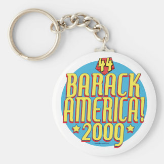 Barack America 2009 Political Super Hero Gear Basic Round Button Keychain