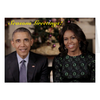 Barack and Michelle 2015 WA - Greeting Card