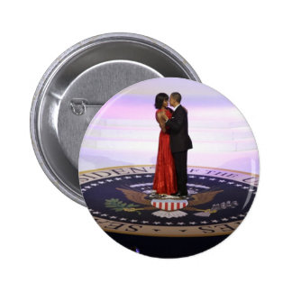 Barack and Michelle Obama 2 Inch Round Button