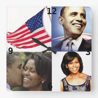 BARACK AND MICHELLE OBAMA clock