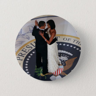 Barack and Michelle Obama dancing Inaugural Ball 2 Inch Round Button